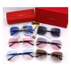 Женские брендовые солнцезащитные очки Cartier (17063) grey