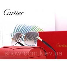 Женские брендовые солнцезащитные очки Cartier (17063) brown