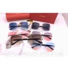 Жіночі брендові сонцезахисні окуляри Cartier (17063) brown