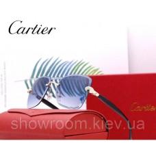 Жіночі брендові сонцезахисні окуляри Cartier (17063) blue