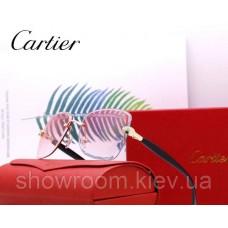 Женские брендовые солнцезащитные очки Cartier (17063) rose