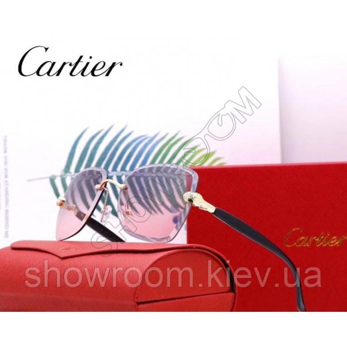 Женские брендовые солнцезащитные очки Cartier (17063) purple