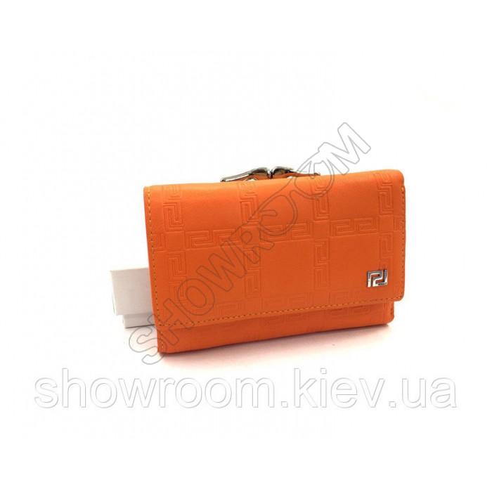 Женский компактный кошелек Versace (V-3804) orange
