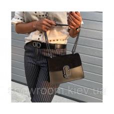 Женская итальянская сумка Laura Biaggi (329) кожаная черная