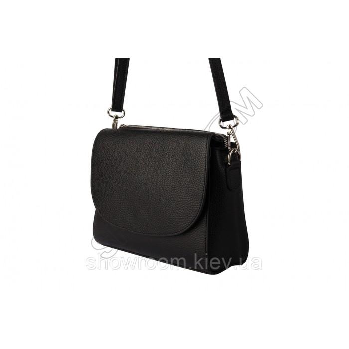 Женская сумка кроссбоди Laura Biaggi (118) кожаная черная