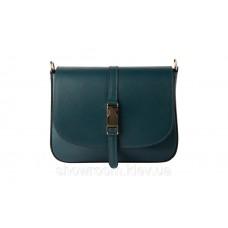 Женская сумочка на плечо Laura Biaggi (465) кожаная цвета морской волны