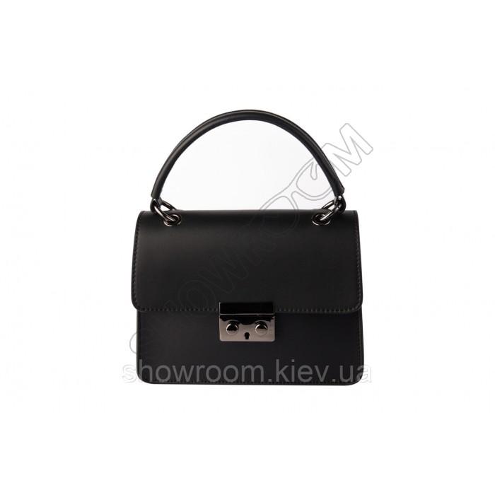 Женская сумочка через плечо Laura Biaggi (171) кожаная черная