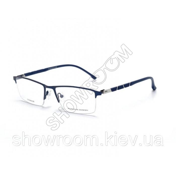 Мужская полуободковая оправа Porsche Design p-9859 blue