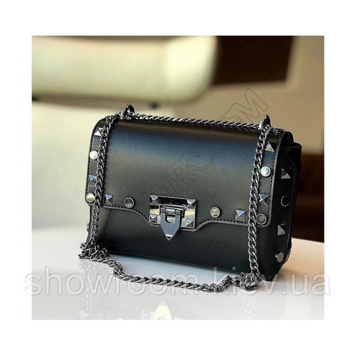 Женская сумка кроссбоди Vera Pelle (734) кожаная черная