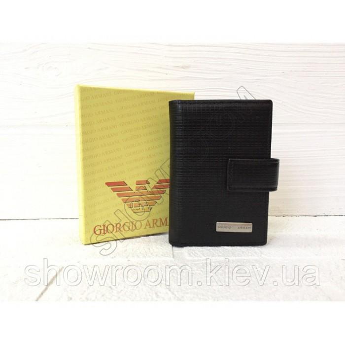 Кожаная визитница Armani 086-036 в подарочной упаковке