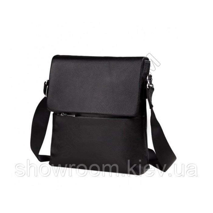 Сумка мужская мессенджер Leather Collection (299) кожаная черная