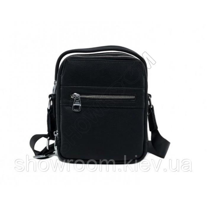Вместительная мужская сумка Leather Collection (1901) кожаная черная