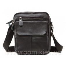 Мужская сумка мессенджер Leather Collection (1108) кожаная черная