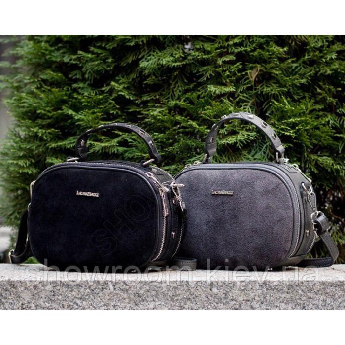 Женская сумочка на плечо Laura biaggi (107-05) кожаная черная