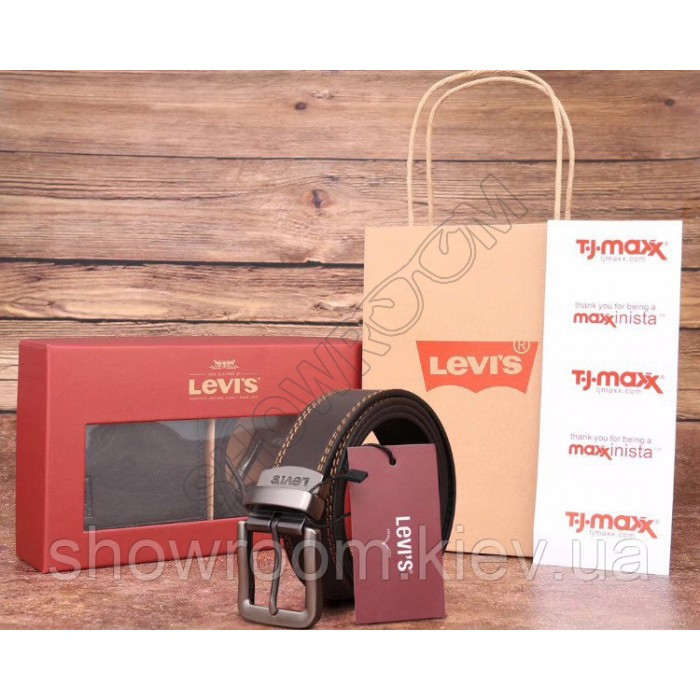 Мужской ремень+портмоне Levis (512), подарочный набор
