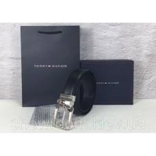 Мужской кожаный ремень в подарочной упаковке (052)