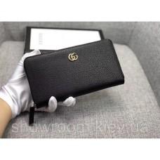 Женский кожаный кошелек (456117) black