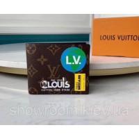 Мужское портмоне LV (61918) подарочная упаковка