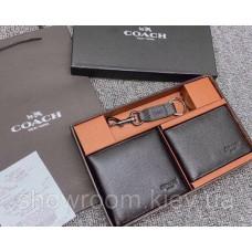 Чоловіче портмоне і вкладиш для документів Coach (198) подарунковий набір