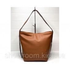 Женская кожаная сумка Laura Biaggi (12965) коричневая