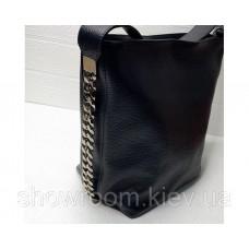 Жіноча шкіряна сумка Laura Biaggi (12965) чорна
