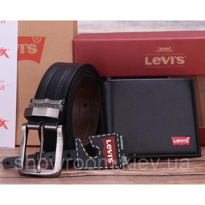 Мужское портмоне + ремень Levis (513) подарочный набор