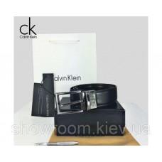 Мужской кожаный ремень в подарочной упаковке (425), подарочный набор