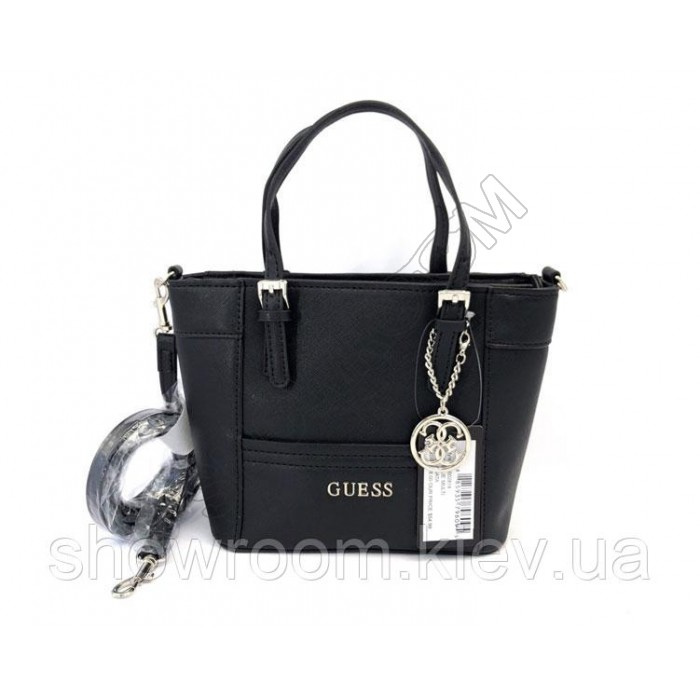 Женская брендовая сумка кроссбоди Guess (814) черная