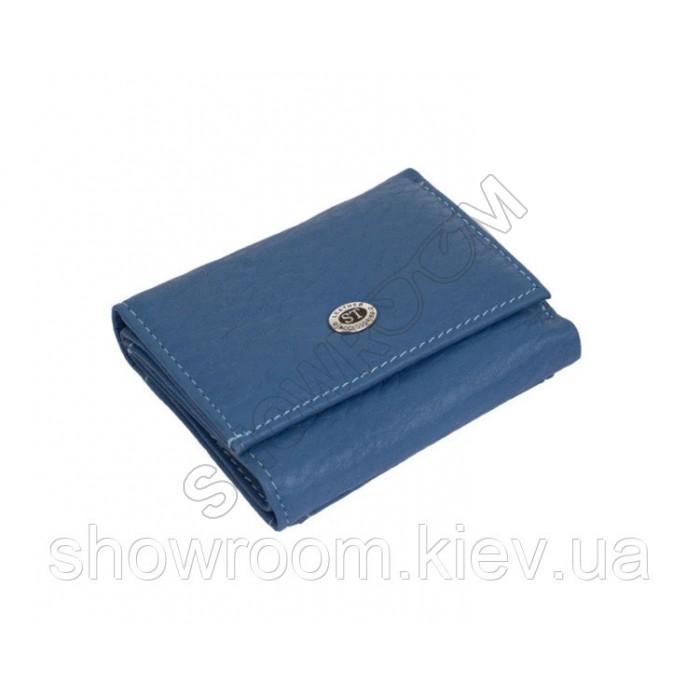 Недорогой женский кожаный кошелек (4401) голубой