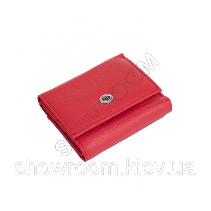 Недорогой женский кожаный кошелек (4401) красный
