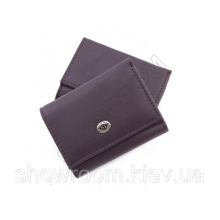 Недорогой женский кожаный кошелек (4401) фиолетовый