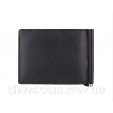 Кожаный зажим для денег на магните (4531) black