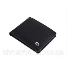 Кожаный зажим для денег на магните (811) black
