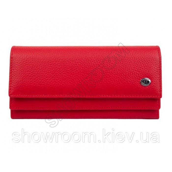 Женский кожаный удобный кошелек (1031) красный