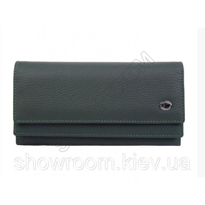 Женский кожаный удобный кошелек (1031) зеленый