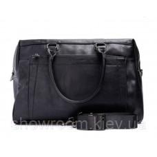 Мужская большая вместительная сумка David Jones (6605) черная