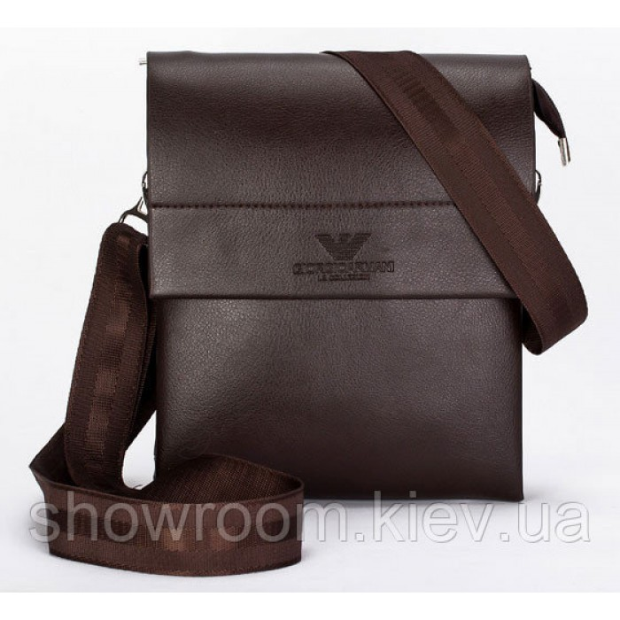 Мужская сумка на плечо Giorgio Armani коричневая 886
