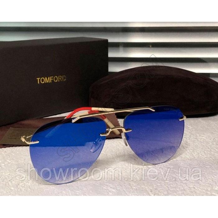 Женские зеркальные очки авиаторы Tom Brown (832)