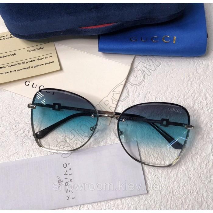 Женские брендовые солнцезащитные очки (6140) acvamarin