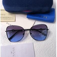 Женские брендовые солнцезащитные очки (6140) dark blue