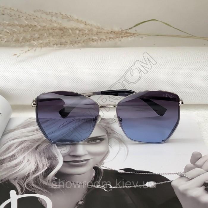 Женские очки от солнца Fendi (6050) голубые
