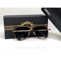 Женские солнцезащитные очки авиаторы Dita (1002) gold