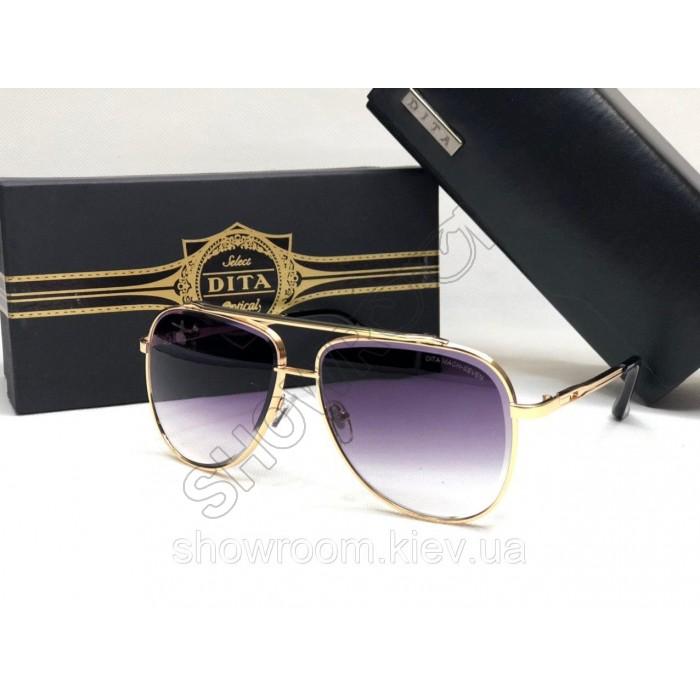 Жіночі сонцезахисні окуляри авіатори Dita (1002) gold