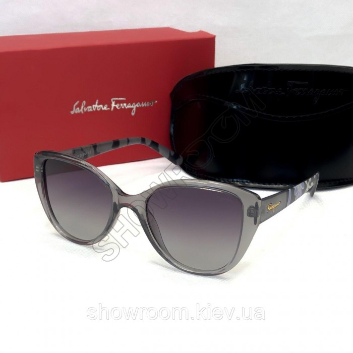 Женские солнцезащитные очки с поляризацией Salvatore Ferragamo (3219) серые