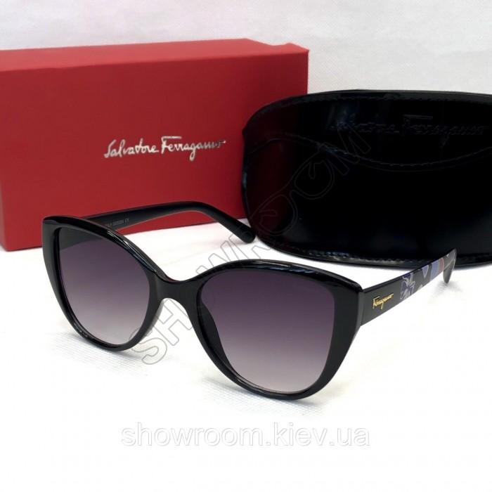 Женские солнцезащитные очки Salvatore Ferragamo (3219) глянцевые