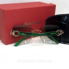 Жіночі сонцезахисні безоправні окуляри Salvatore Ferragamo (1802) green