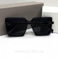 Женские брендовые очки от солнца с поляризацией (5799) черные