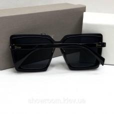 Жіночі брендові окуляри від сонця з поляризацією (5799) чорні
