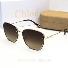 Женские брендовые солнцезащитные очки Chloe (202) brown