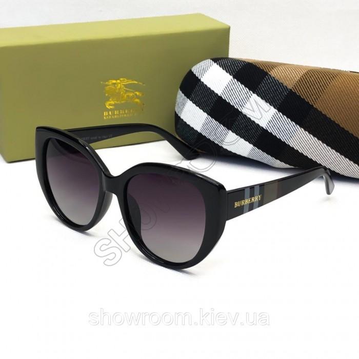 Женские солнцезащитные очки с поляризацией Burberry (2720) глянцевые